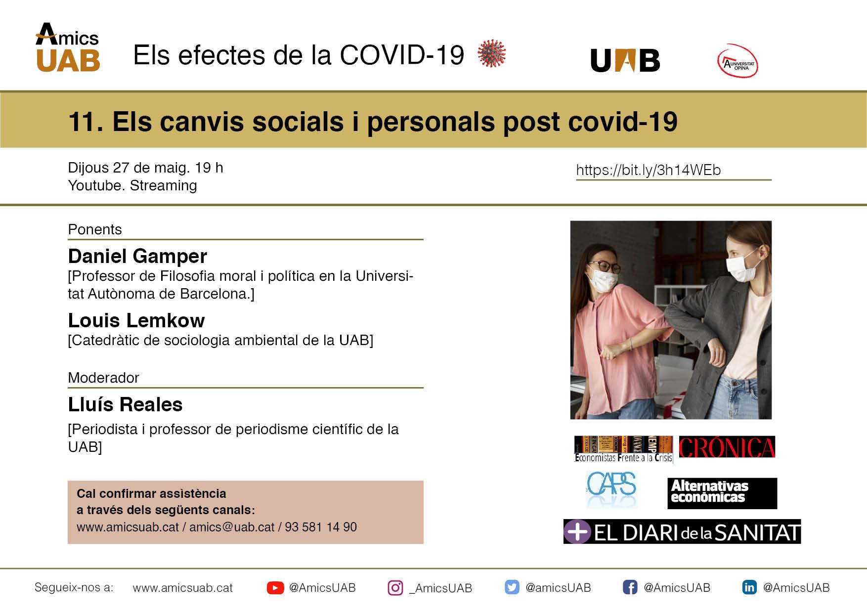Sessió 11. Els canvis socials i personals post covid-19
